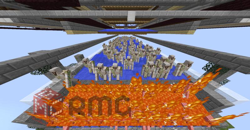 The Iron Waterfall 铁瀑布自动堆叠村庄刷铁机 目前全世界最快的自动堆叠刷铁机 每小时75000铁锭  By Yiiiii
